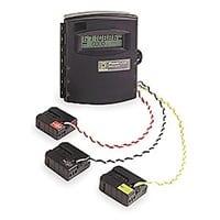 Medidor de energía EME2010 de parámetros Eléctricos básicos que cuenta con un puerto infrarrojo y software para tomado de lecturas desde PALM OS.