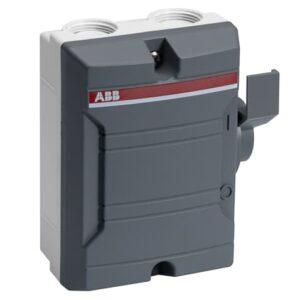 Interruptor cerrado 2 polos 25 amperes,400 volts CA,número de serie 2CMA142400R1000. Corriente térmica convencional (I la ):Completamente cerrado 25 A.