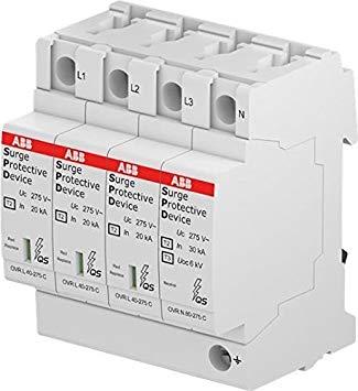 El dispositivo de protección contra sobretensiones, número de serie 2CTB803953R0800. Adecuado para proteger sistemas contra la sobretensión transitoria.