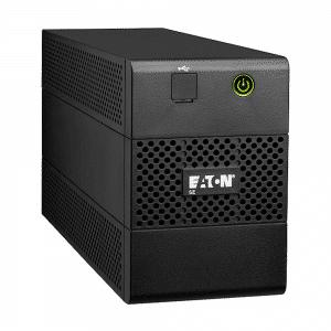 UPS marca EATON con capacidad de 650VA/360W 4 Interactivo, número de serie 5E650USB-LA. Tiempo típico de respaldo a media carga: 16 min.