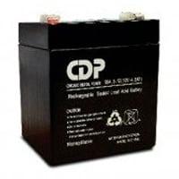 Bateria interna marca CDP con capacidad de 12V, 4.5 AMP B-12/4.5. Corriente máxima de descarga de 60A, su peso es de 1.40 kg.
