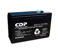 Batería interna marca CDP con capacidad de 12V y 9 AMP B-12/9. Ademas tiene una capacidad de voltaje de flotación en recarga de 14.6 a 14.8 Vdc