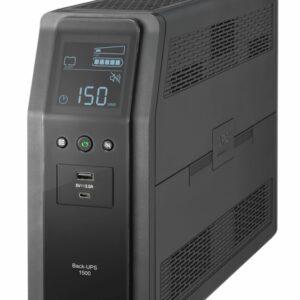 Unidad Back UPS PRO BR 1500 VA, 10 tomas de salida, 2 puertos USB de carga, AVR, interfaz LCD, LAMRespaldo por baterías premium con protección