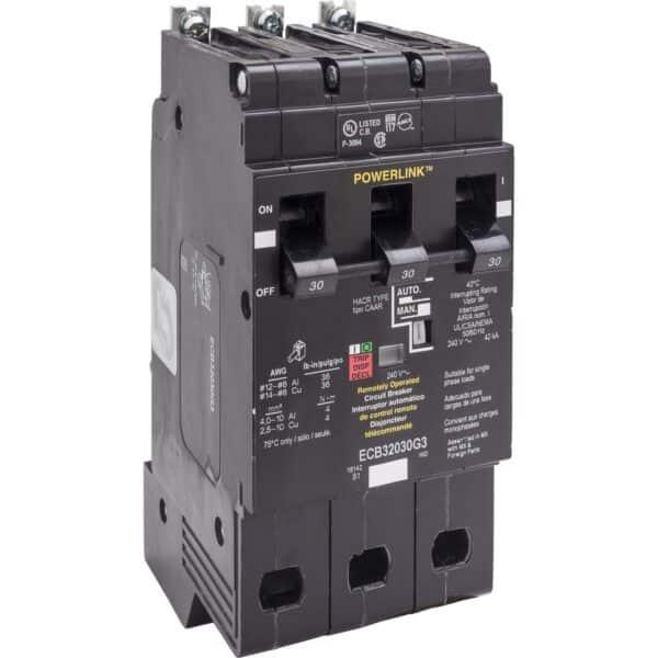 Interruptor Circuito 30AM, número de serie ECB32030G3.Tecnología de unidad de disparo Termomagnético, estándar, LI.Corriente nominal de línea 30 A