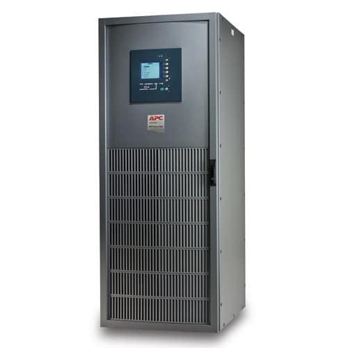 UPS MGE Galaxy 5000, con capacidad 130 kVA, número de serie G5TUPS130. Distorsión armónica total de entrada: Inferior al 3% para plena carga.