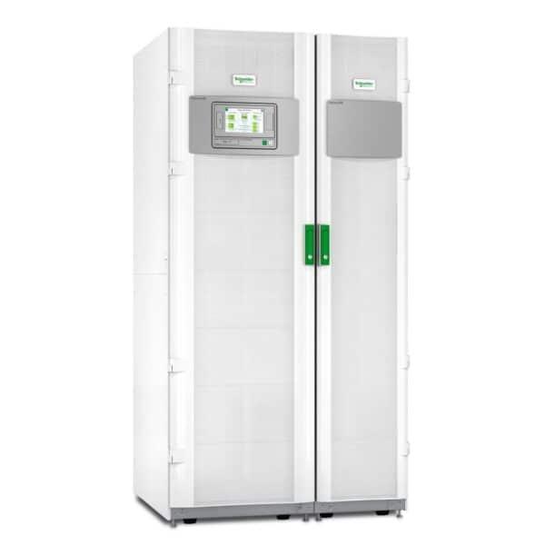 UPS marca Galaxy VM con capacidad de 180 kVA, número de serie GVMSB180KG65S. Funcionamiento con sobrecarga 10 minutos al 125% y 60 segundos al 150%.