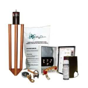 Kit de Tierra Física Con Electrodo Magnetoactivo con capacidad máximo de 400 ampers. Los electrodos de TOTAL GROUND se utilizan parala puesta a tierra de..