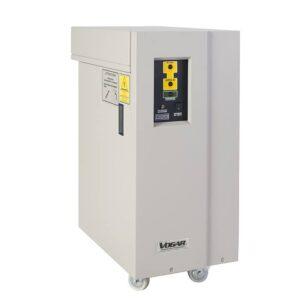 Regulador marca Vogar Bifasico con capacidad de 30 Kva, número de serie LAN-230. Proporcionan una protección eléctrica integral contra las principales variaciones de voltaje
