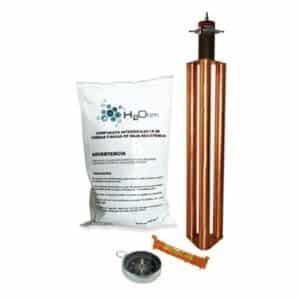 Kit de Puesta a Tierra de 100 Amperes con Electrodo, Filtro y Compuesto H2Ohm. El electrodo TG-100ABse utiliza para la puesta a tierra de:SITES de cómputo.
