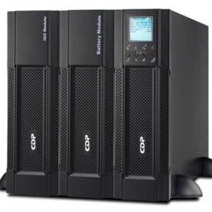 UPS marca CDP Online con capacidad de 6 KVA/4800W, modelo UPO22-6RT AX. Autodiagnóstico inteligente realizado por el procesador de señal digital DSP.