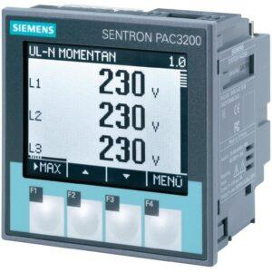 Medidor de energía marca Siemens SENTRON, número de serie PAC3200. es un instrumento que permite la visualización de los parámetros de red más relevantes.